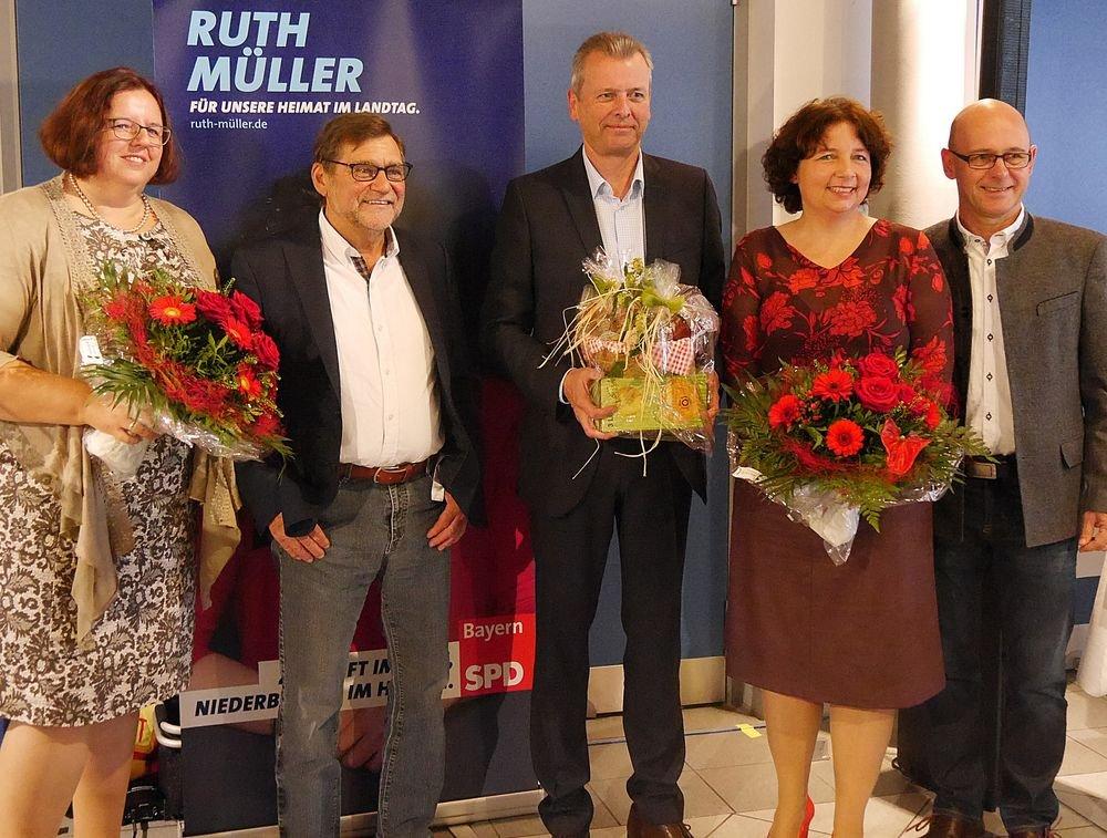 Christine Erbinger, Gerd Steinberger, Dr. Uli Maly, Ruth Müller, MdL und Sebastian Hutzenthaler